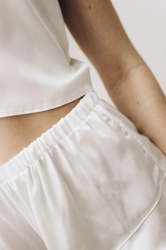 Женская пижама из шелка Perfect Female Молочный - Фото 3